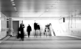 Motion blurred of people Royalty Free Stock Photography