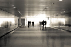 Motion blurred of people Stock Photography
