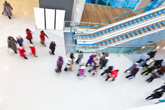 Motion Blurred People in the Mall. Motion Blurred People in the Shopping Mall Royalty Free Stock Photos