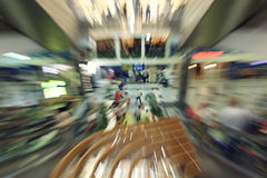 Motion blurred people in the mall Royalty Free Stock Photography