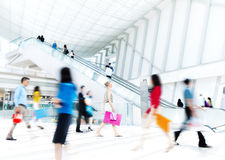 Motion Blurred People in the Office Royalty Free Stock Photography