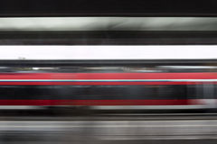 Motion blurred photography of a passing train Stock Photo