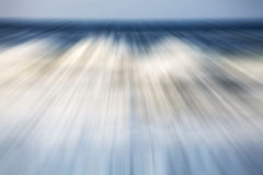 Motion blurred picture of a sea, nature background Stock Image