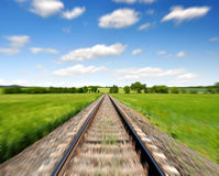 Motion blurred railway Royalty Free Stock Images