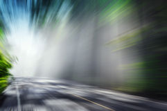 Motion blurred road. And cloudy blue sky background Royalty Free Stock Photos