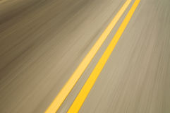 Motion blurred road Royalty Free Stock Image