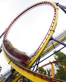 Motion blurred roller coaster  Stock Photo