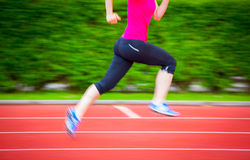 Motion blurred runner Royalty Free Stock Photography