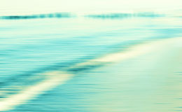 Motion blurred sea background. Royalty Free Stock Photo