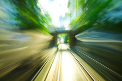 Motion blurred on speeding Royalty Free Stock Photos