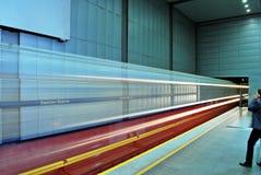 Motion blurred subway train Royalty Free Stock Image