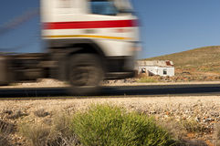 Motion-blurred truck Royalty Free Stock Image