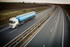Free Motion Blurred Truck On A Highway Stock Images - 22354504