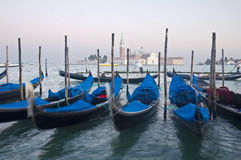 Motion blurred venice gondolas Royalty Free Stock Photos