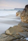 Motion Blurred Waves, Cornwall, UK. Royalty Free Stock Photo