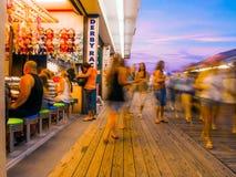 Motion Boardwalk Blur Royalty Free Stock Photos