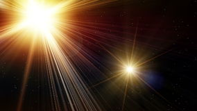 Motion of bright stars with flare stock video footage