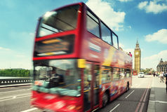 Motion bus in London Stock Photo