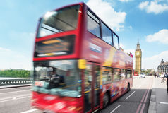 Motion bus in London, Uk Royalty Free Stock Photography