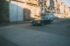 In motion 1979 Cadillac Coupe De Ville Stock Photos
