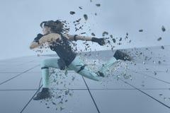 Motion caption virtual reality. Digital technology royalty free stock photos