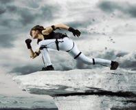 Motion caption virtual reality. Digital technology stock image