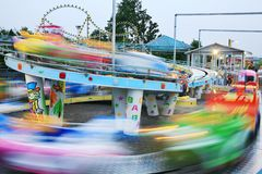 Motion car in amusement park royalty free stock images