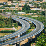 Motion Cars On Freeway In Spain, Europe Royalty Free Stock Photos