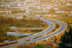 Motion Cars On Freeway In Spain, Europe Royalty Free Stock Image