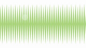 Motion Clip of Green Waveform for Communication stock video
