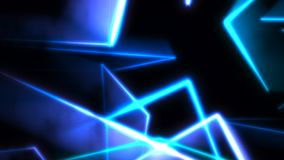 Motion colorful neon lines abstract background stock footage