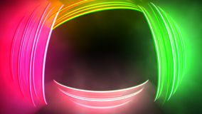 Motion colorful neon lines abstract background stock video footage