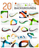 Motion concept abstract background set Stock Images