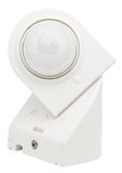 Motion detector. White motion detector isolated on white background stock photo
