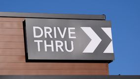 Motion of drive thru on building stock video footage