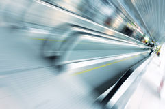 Motion of escalator Royalty Free Stock Photos