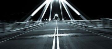 Motion fast on bridge Stock Photo