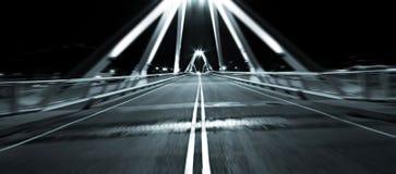 Motion fast on bridge Royalty Free Stock Image