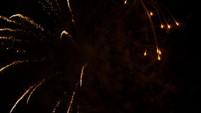 Motion of firework display on Canada day. For celebrating Canada 150 years stock footage