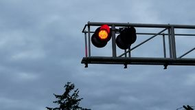 Motion of flashing lights for train stock footage
