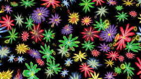Motion flowers elements royalty free illustration