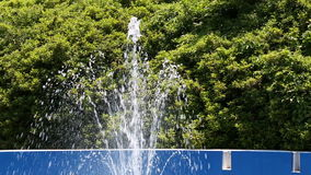Motion fountain water stock video footage