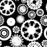 Motion gear pattern Royalty Free Stock Photo