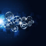 Motion Gears Abstract Blue Background Royalty Free Stock Images