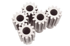Motion gears - team force. Izolated white stock image