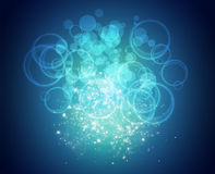 Motion glowing circles Royalty Free Stock Image