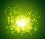 Motion glowing circles Royalty Free Stock Photography