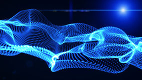 Motion Graphic Elements blue. graphic wave. the shape are particles stock video