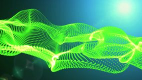 Motion Graphic Elements green. graphic wave. the shape are particles stock video