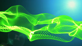 Motion Graphic Elements green. graphic wave. the shape are particles stock footage